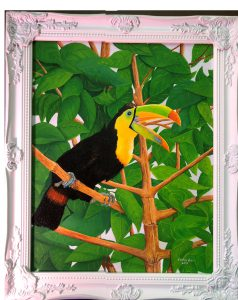 Costa Rican Keel-billed Toucan-up